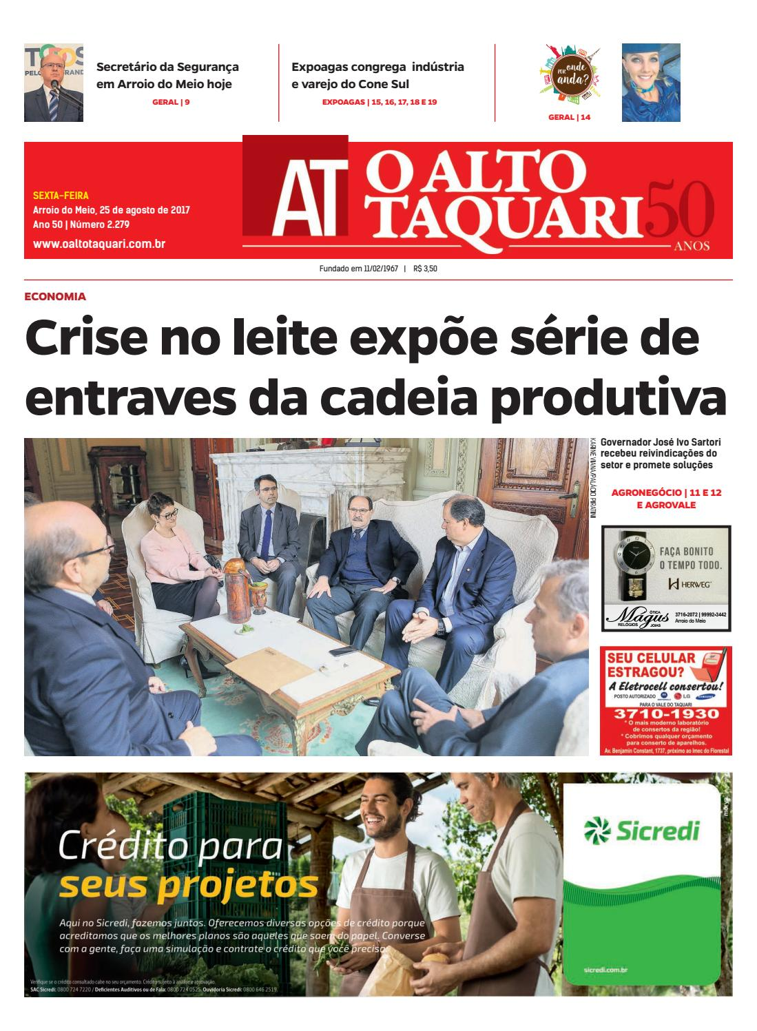 d8fa931ae Jornal O Alto Taquari - 25 de agosto de 2017 by Jornal O Alto Taquari -  issuu