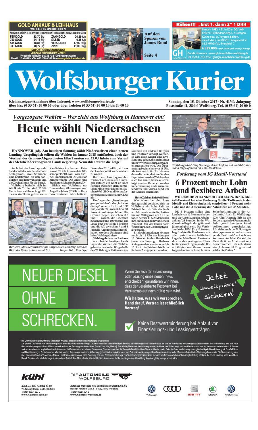 2017 10 15 by Wolfsburger Kurier - issuu