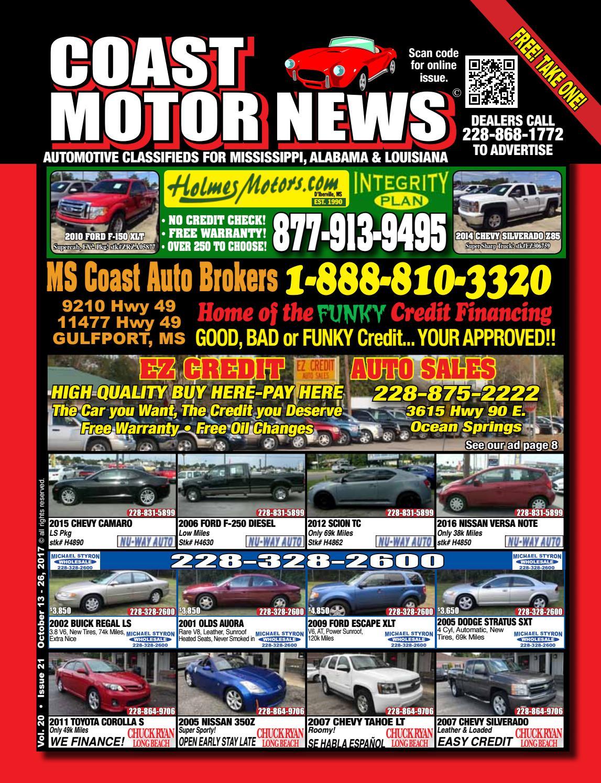 Easy Credit Auto Sales >> Cmn V20 I21 By Coast Motor News Issuu