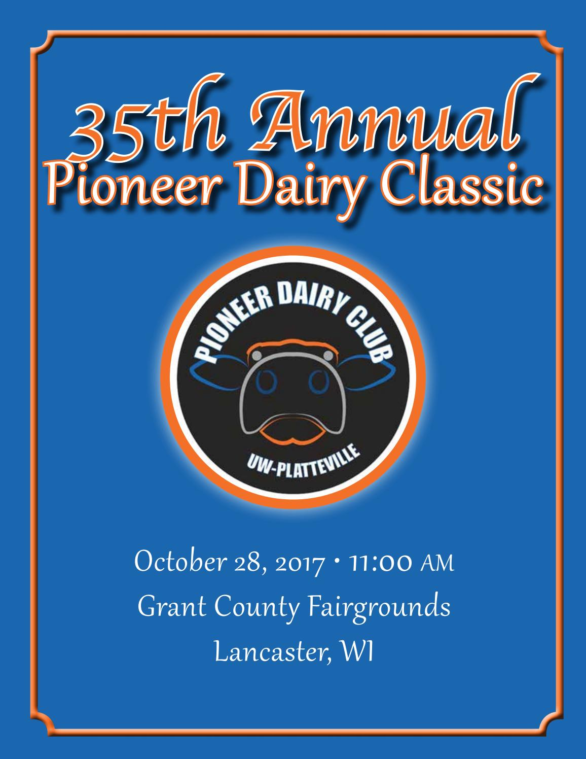 35th Annual Pioneer Dairy Classic by Dairy Agenda Today - issuu 5fb0ee13495a