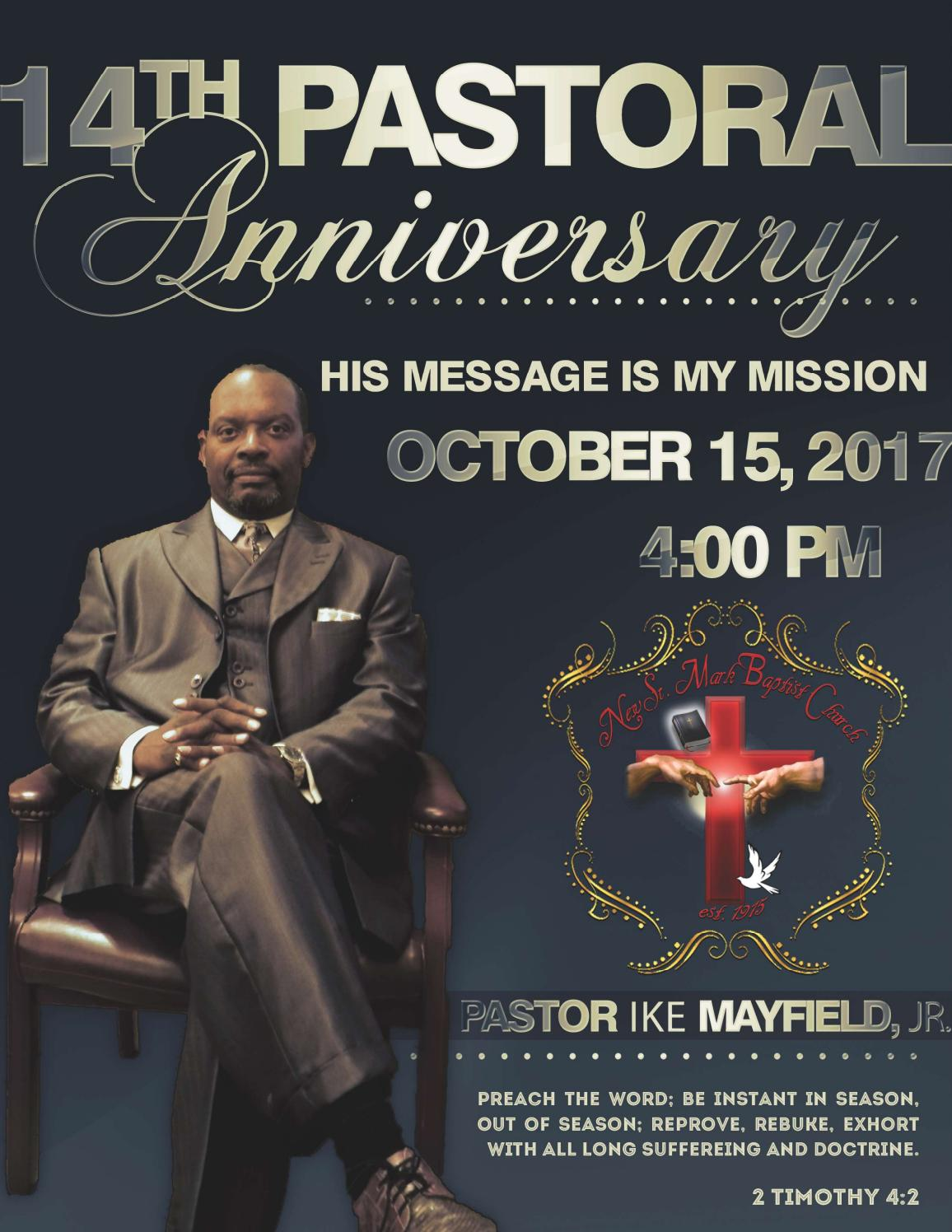 Pastor Ike Mayfield Jr's 14th Pastoral Anniversary Program ...