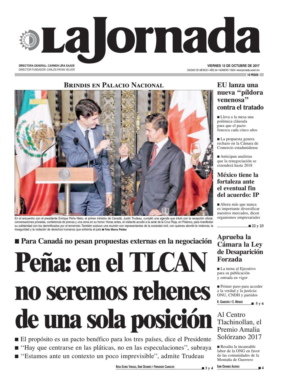 La Jornada, 10/13/2017 by La Jornada: DEMOS Desarrollo de Medios SA ...