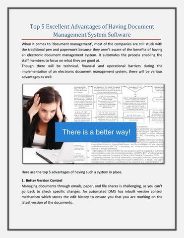 Top 5 Excellent Advantages Of Having Document Management System