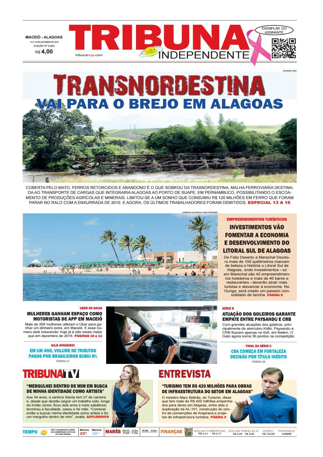 Edição número 3003 - 14 e 15 de outubro de 2017 by Tribuna Hoje - issuu b53b117964f6d