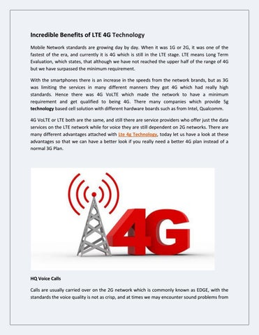 Incredible benefits of lte 4g technology by Wavenet corp - issuu