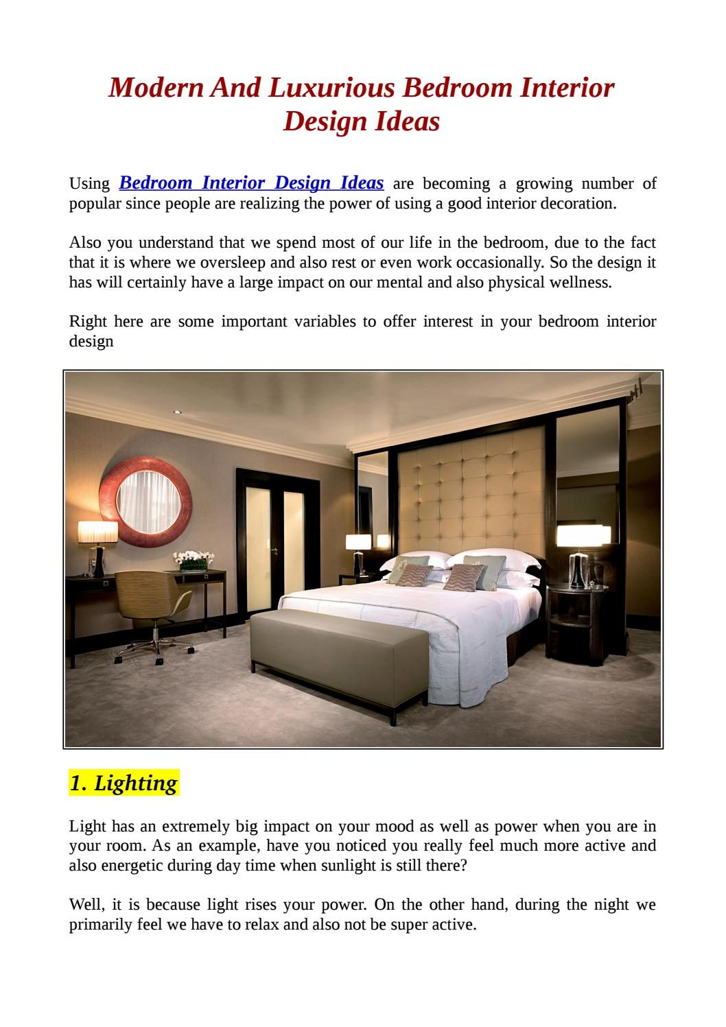 Modern And Luxurious Bedroom Interior Design Ideas By Architectures Ideas Issuu