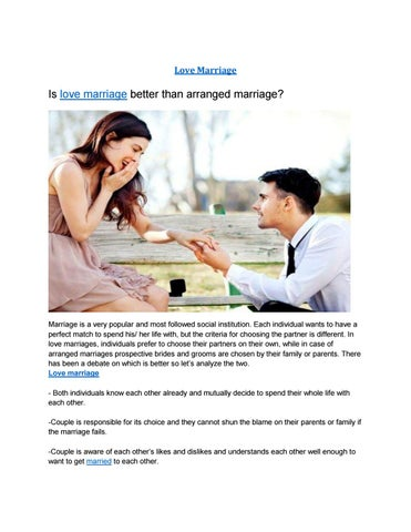 arranged marriage service