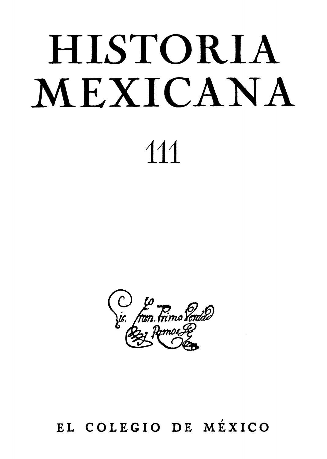 Historia mexicana 111 volumen 28 número 3 by Ce Ocelotl - issuu