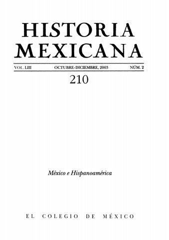 Historia mexicana 210 volumen 53 número 2 méxico e hispanoamérica by ... 98d5eba1fea