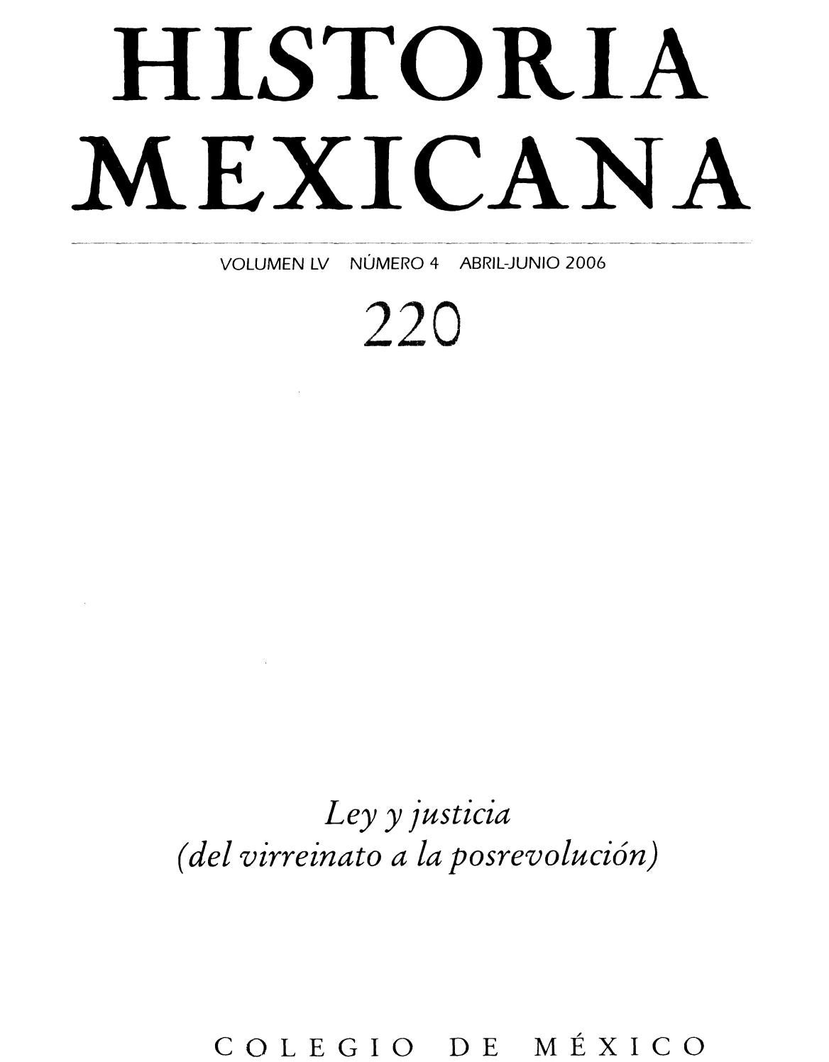 Historia Mexicana 220 Volumen 55 N Mero 4 Ley Y Justicia Del  # Vacantes Muebles Dico Guadalajara