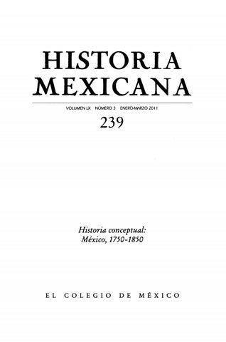 9299e48e95a26 Historia mexicana 239 volumen 60 número 3 historia conceptual méxico ...