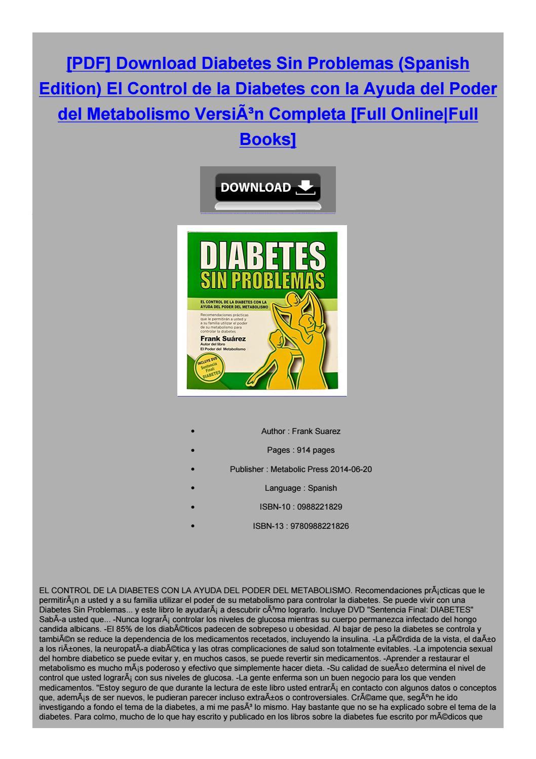 diabetes sin problemas frank suarez