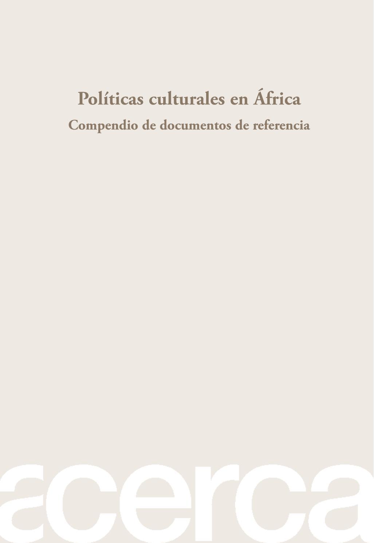 Políticas culturales en África-Compendio de documentos de referencia ...