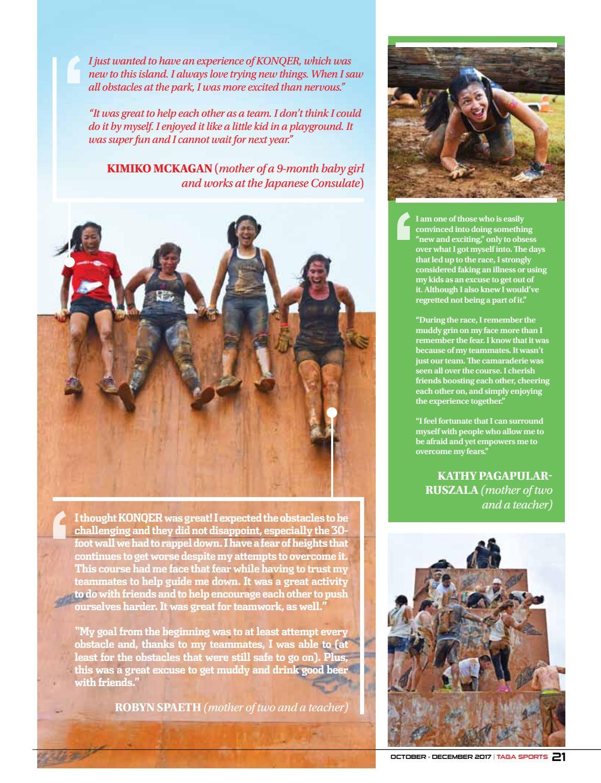 Taga Sports October-December 2017 by Saipan Tribune - issuu