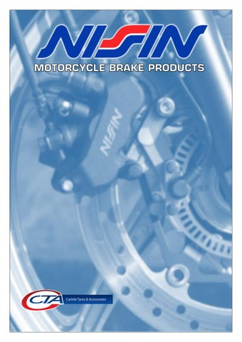 "Cover of ""NISSIN MOTORCYCLE BRAKE PRODUCTS"""