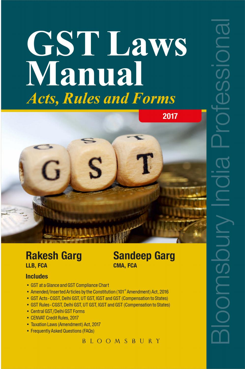 GST Laws Manual – Acts, Rules and Forms by Bloomsbury India