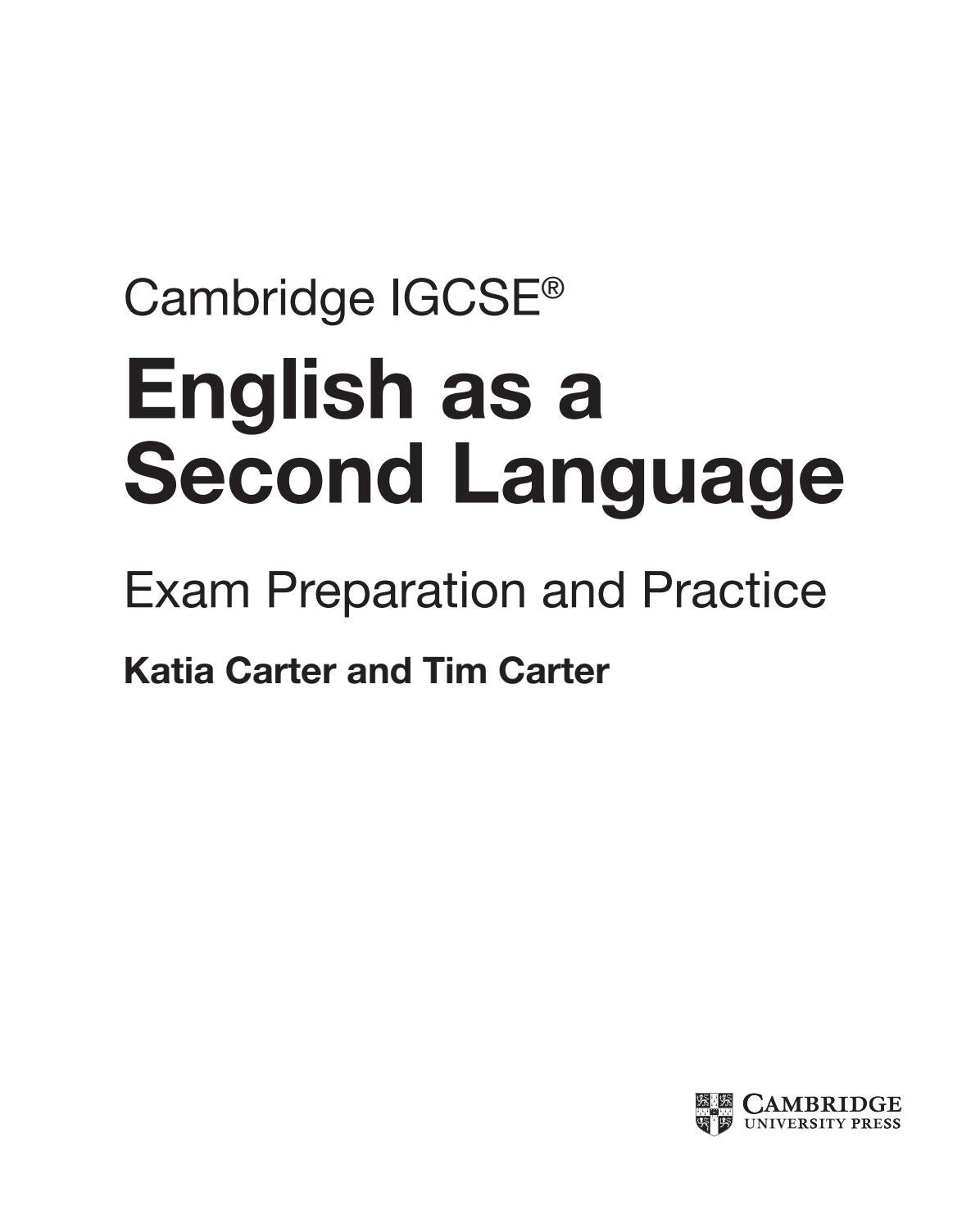 - Preview Cambridge IGCSE® English As A Second Language Exam