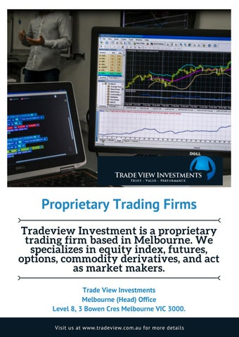 Proprietary trading firm speicalizing in cfd
