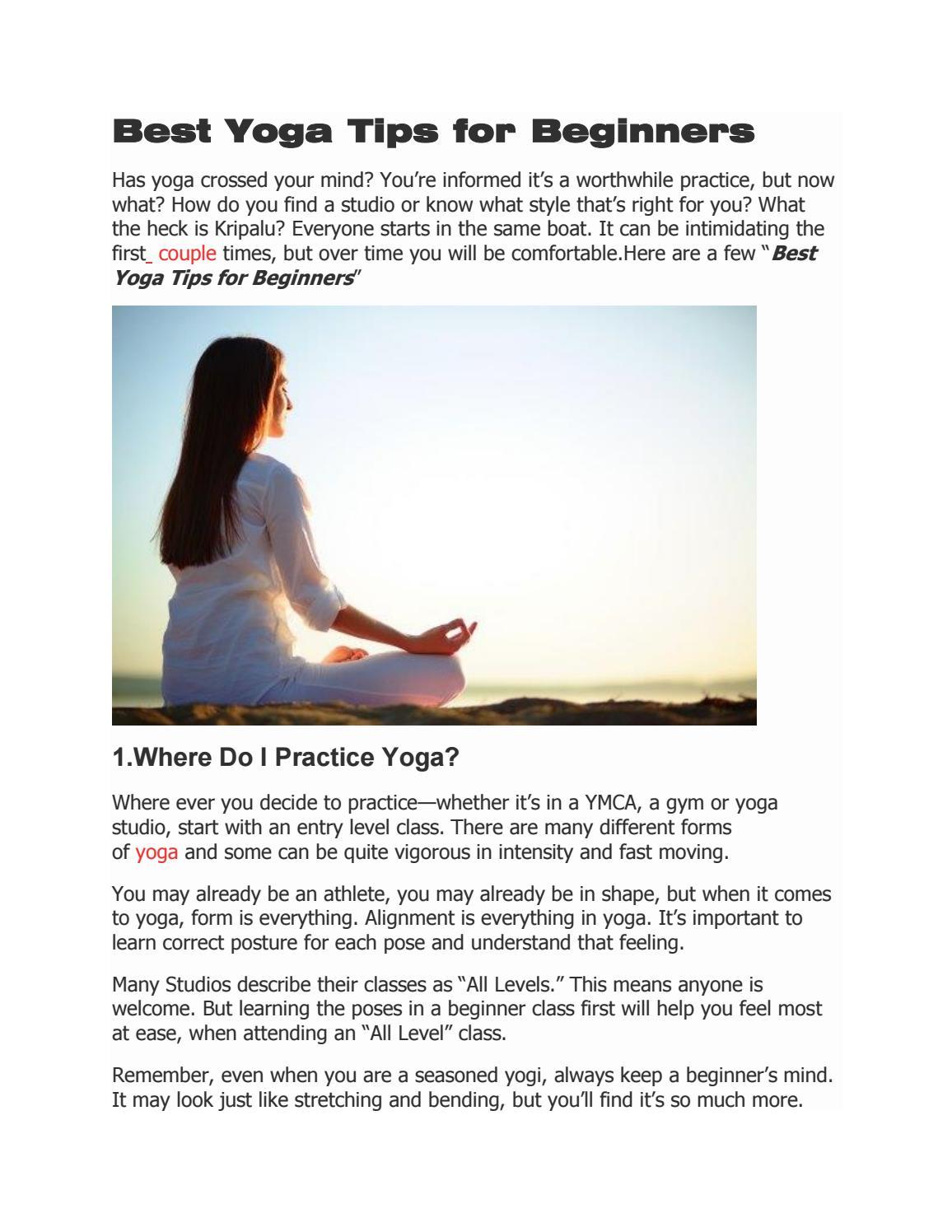 Best Yoga Tips For Beginners By Priya Mane Issuu