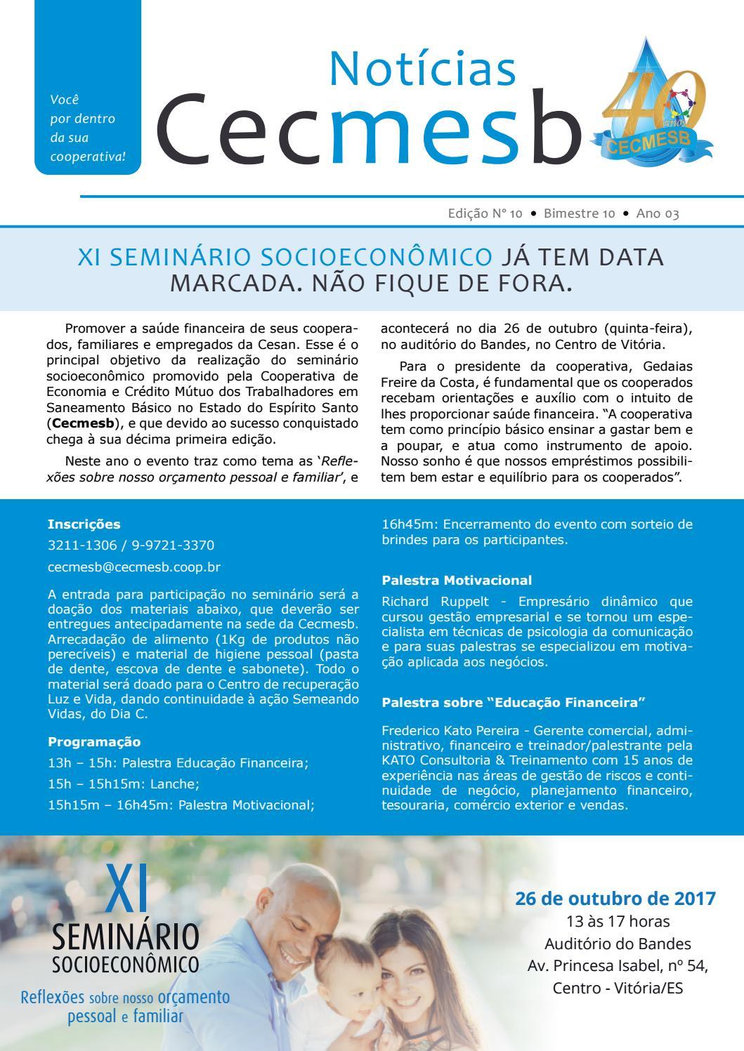 Notícias Cecmesb Edição 10 By Ofício Comunicação E Cultura