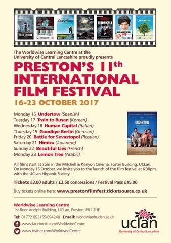 Preston's 11th International Film Festival @UCLan by