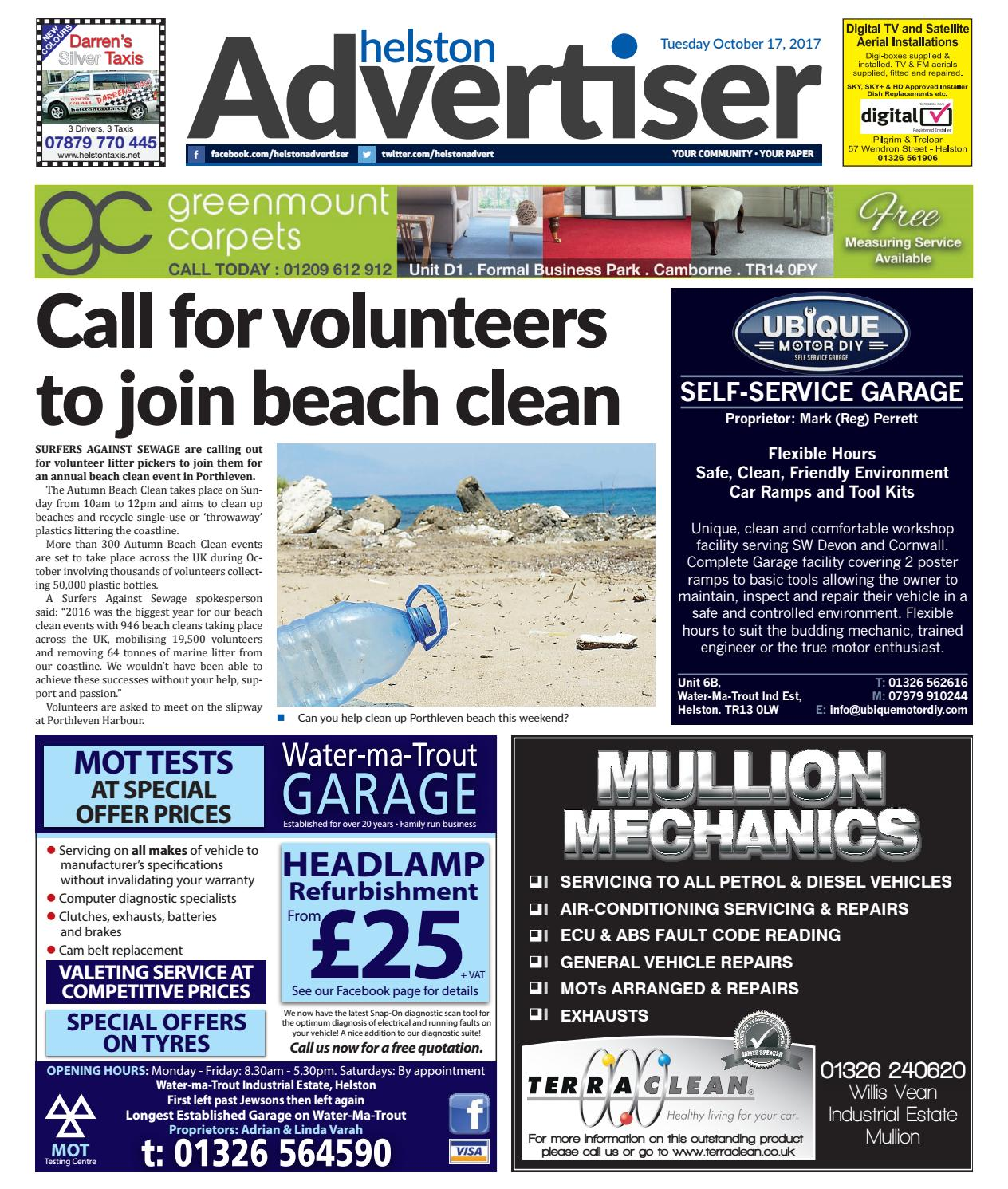 Helston Advertiser - October 17th 2017 by Helston Advertiser