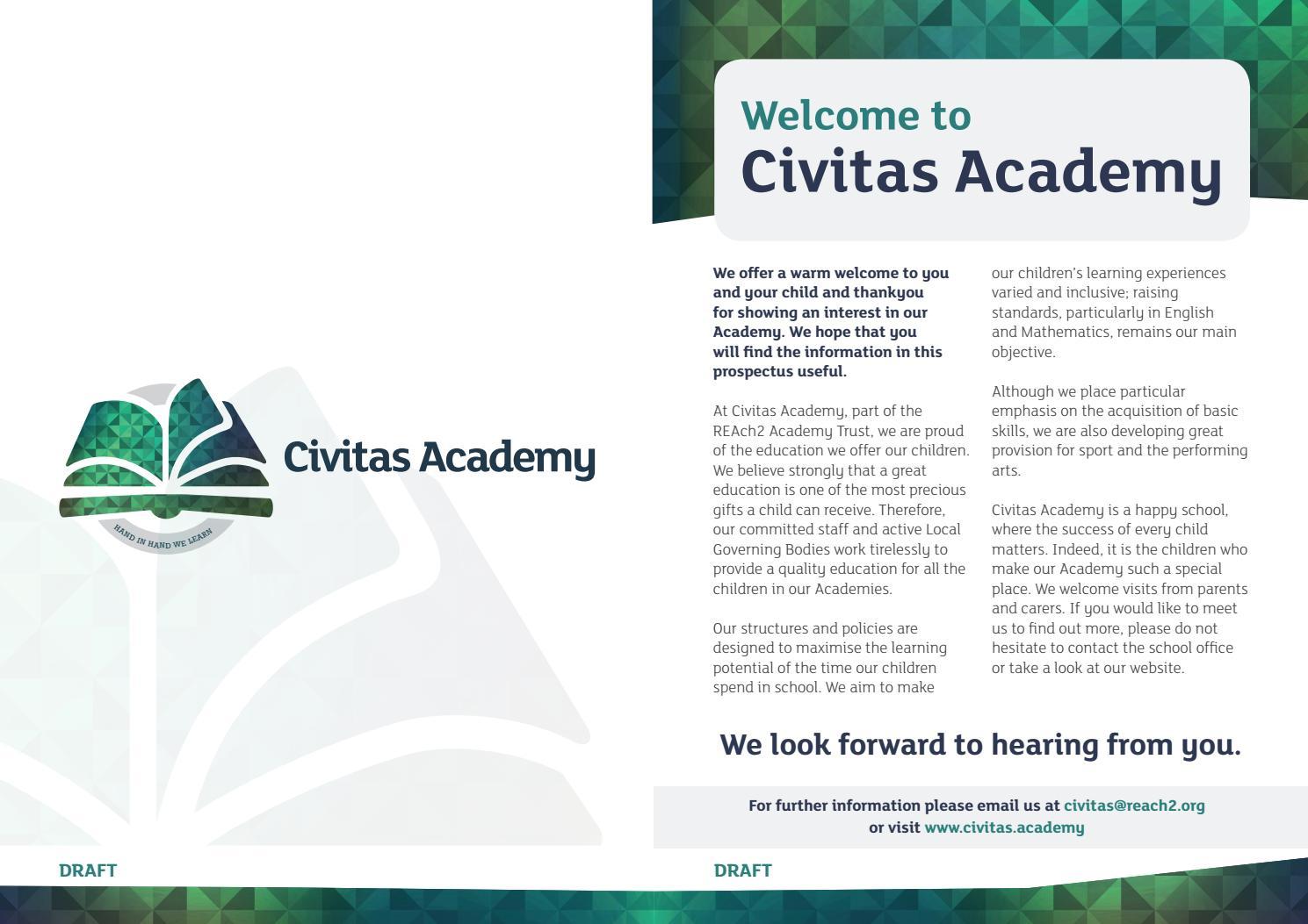 Reach2 Academy Trust >> Civitas Academy School Prospectus By Schudio Issuu