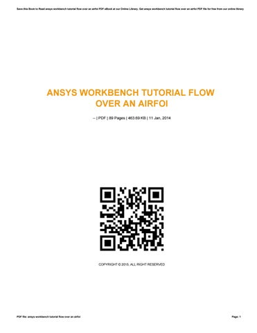Ansys workbench tutorial flow over an airfoi by