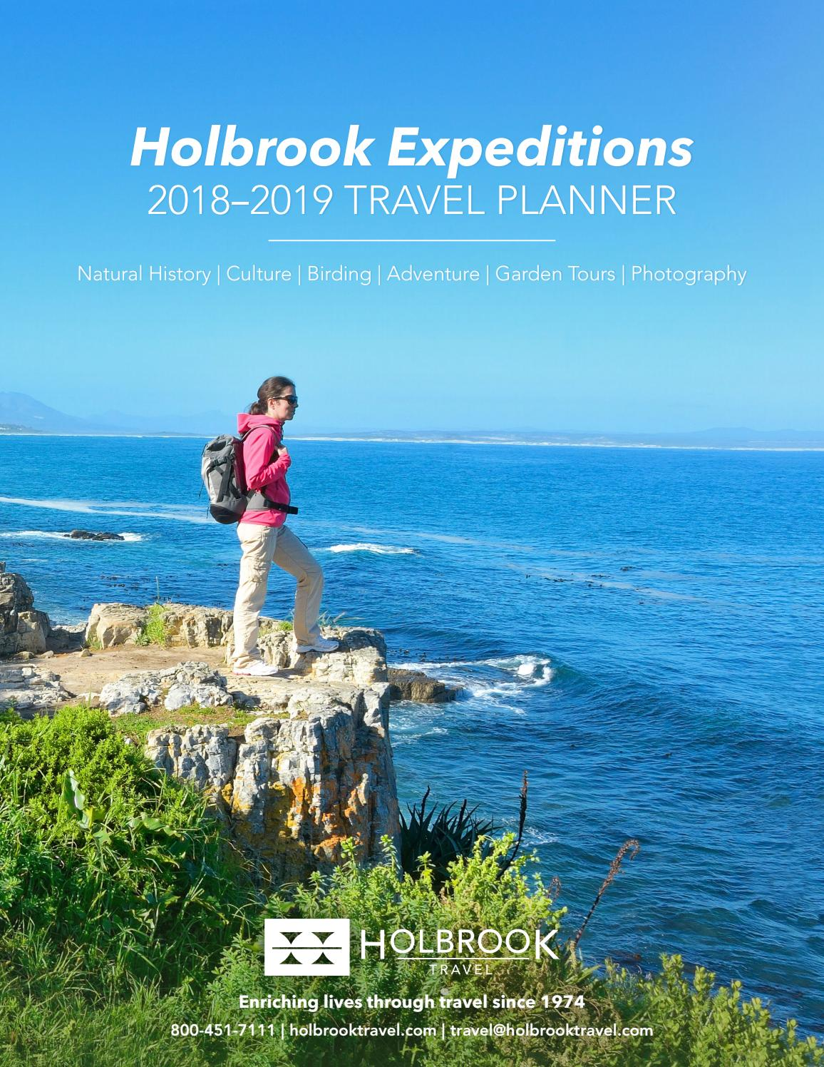 holbrook expeditions 2019 travel planner by holbrook