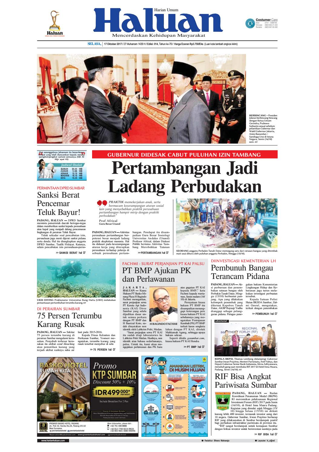 Haluan 17 Oktober 2017 By Harian Issuu Produk Ukm Bumn Nomor Rumah Motif Apel