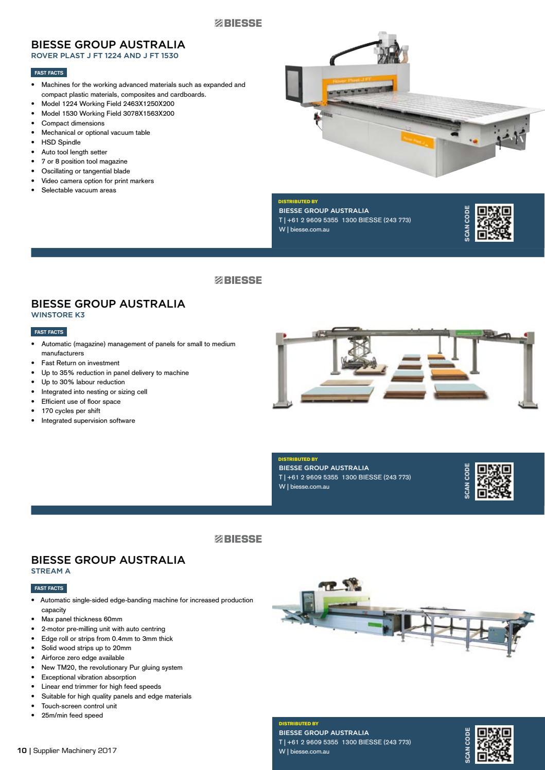Supplier Machinery 2017 by Elite Publishing Co Pty Ltd - issuu