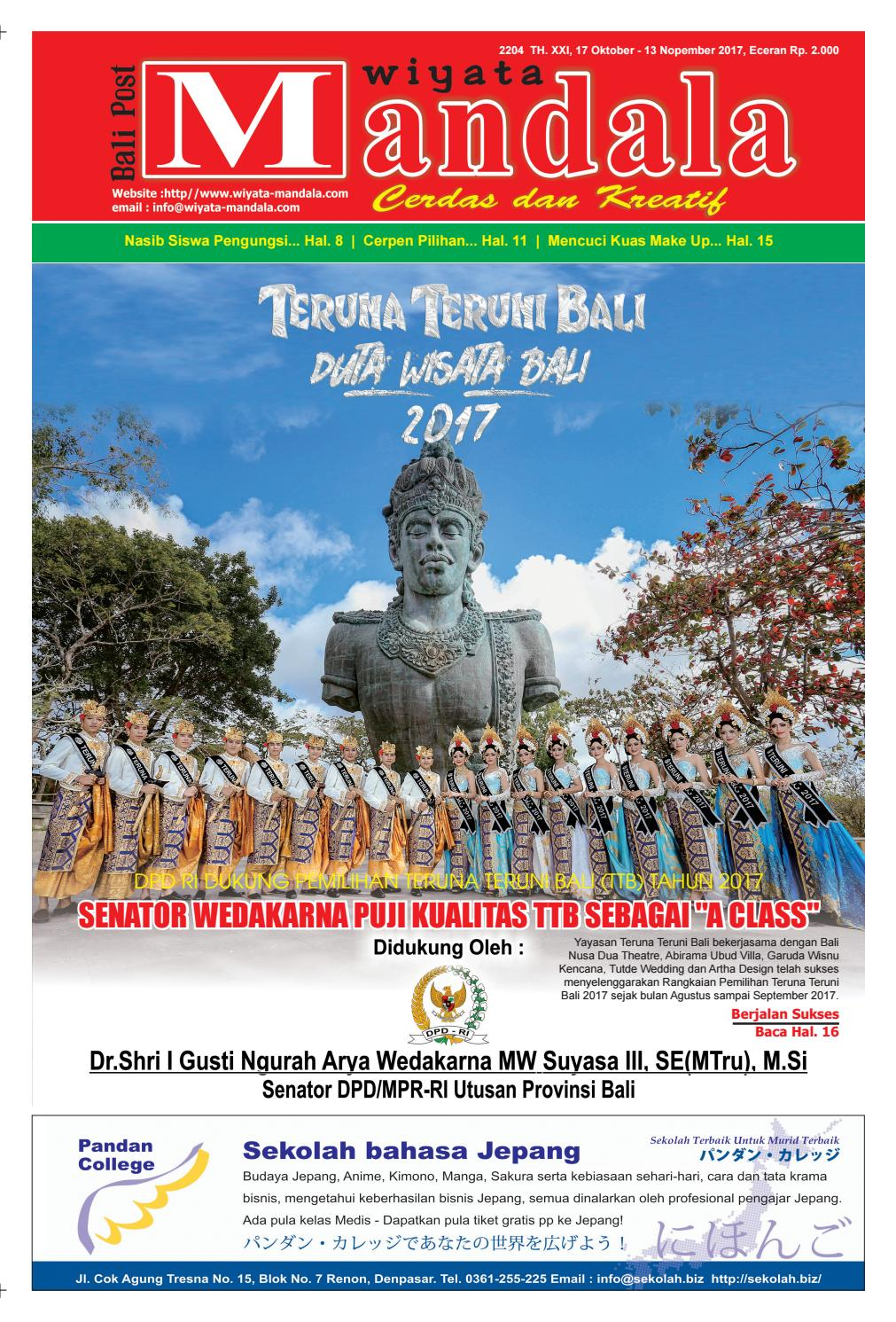 Wiyata mandala edisi 17 oktober 2017 wiyata mandala by e paper kmb issuu