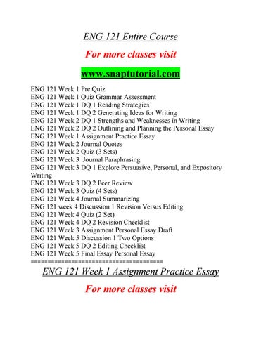 how to write excellent essays in easy steps by bev rempel issuu eng 121 course success is a tradition snaptutorial com