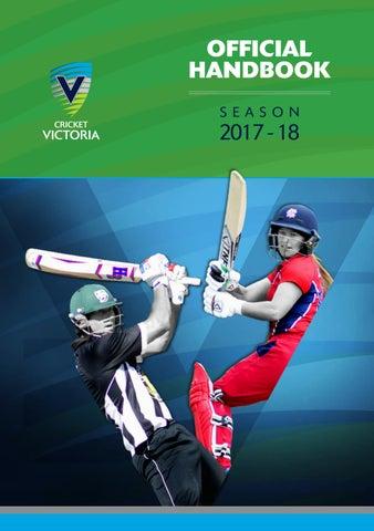 Cricket Victoria Official Handbook 2017 18 By