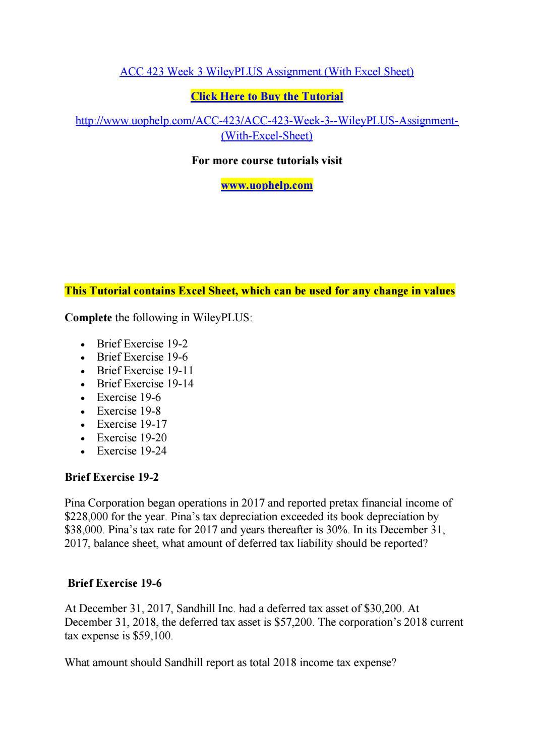 ACC 561 UOP Course Tutorial / Uoptutorial