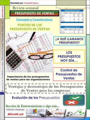 revista presupuesto de ventas by sarahithsuarezsaia issuu
