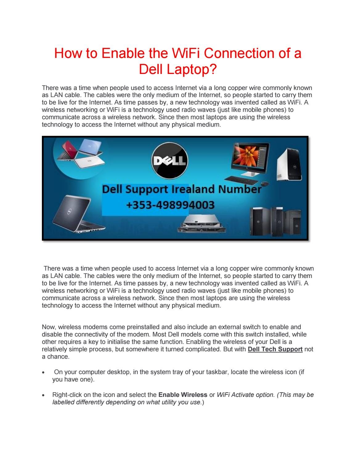 Dell Laptop Wifi Switch Not Working