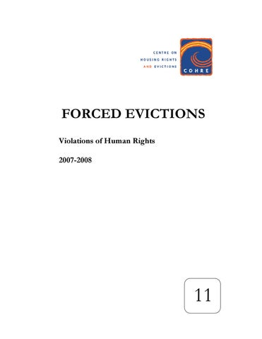 Cohre Forced Evictions Global Survey No 11 2009 By The
