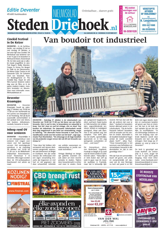 e5504aa6295 Nieuwsblad stedendriehoek ed deventer wk42 by Uitgeverij Stedendriehoek -  issuu