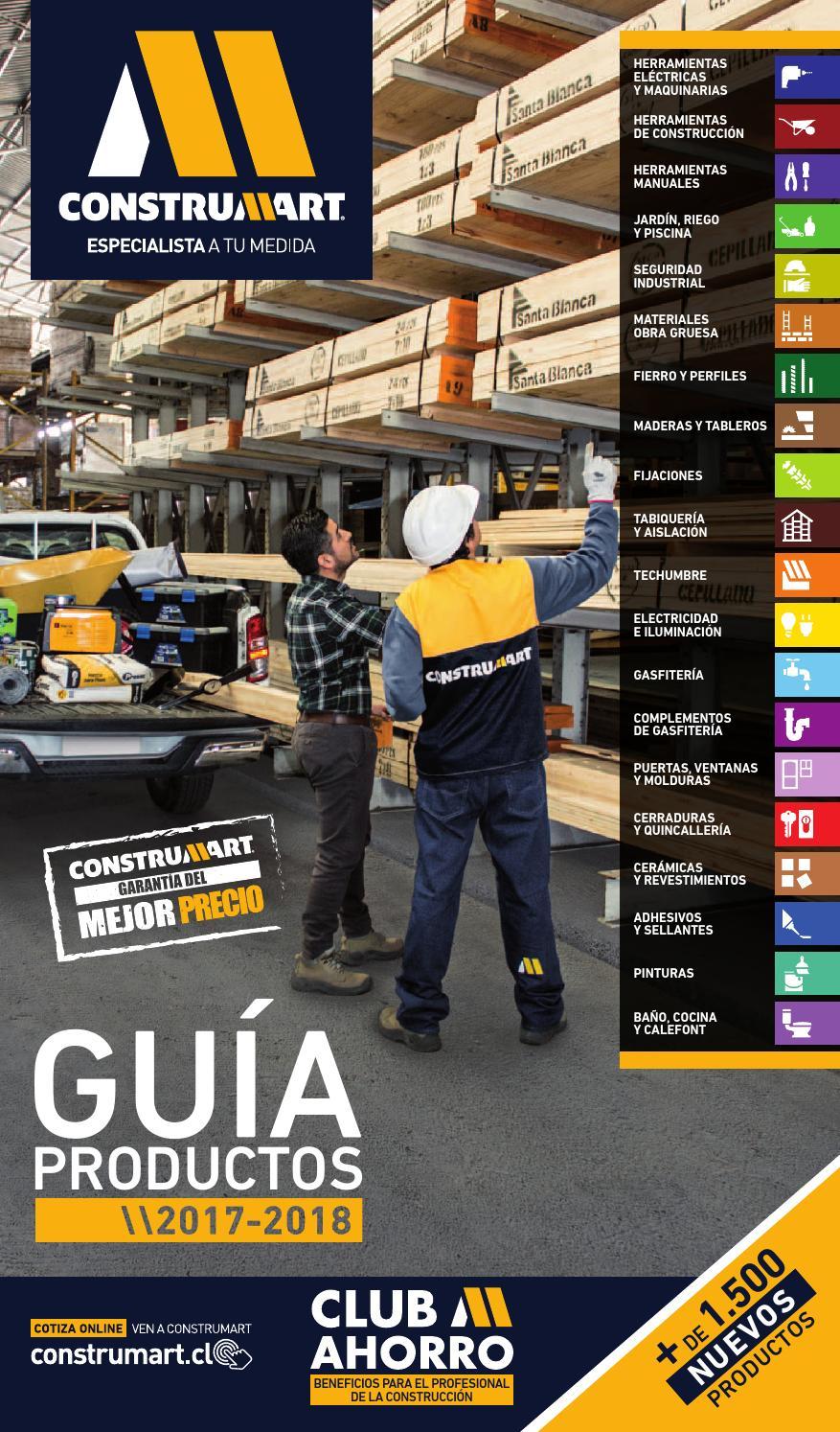 Gu a de productos 2017 2018 z1 by construmart issuu for Construccion de piscinas santiago chile