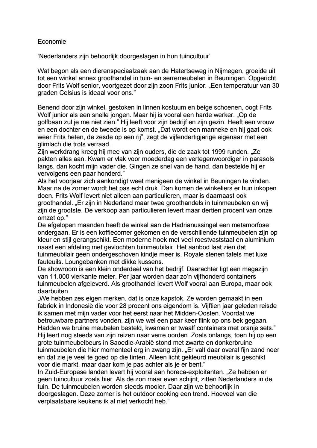 0bfb7e7474c Frits Wolf Beuningen.Goede Zaken Frits Wolf By Ellen Klaasse Tekst En  Journalistiek Issuu