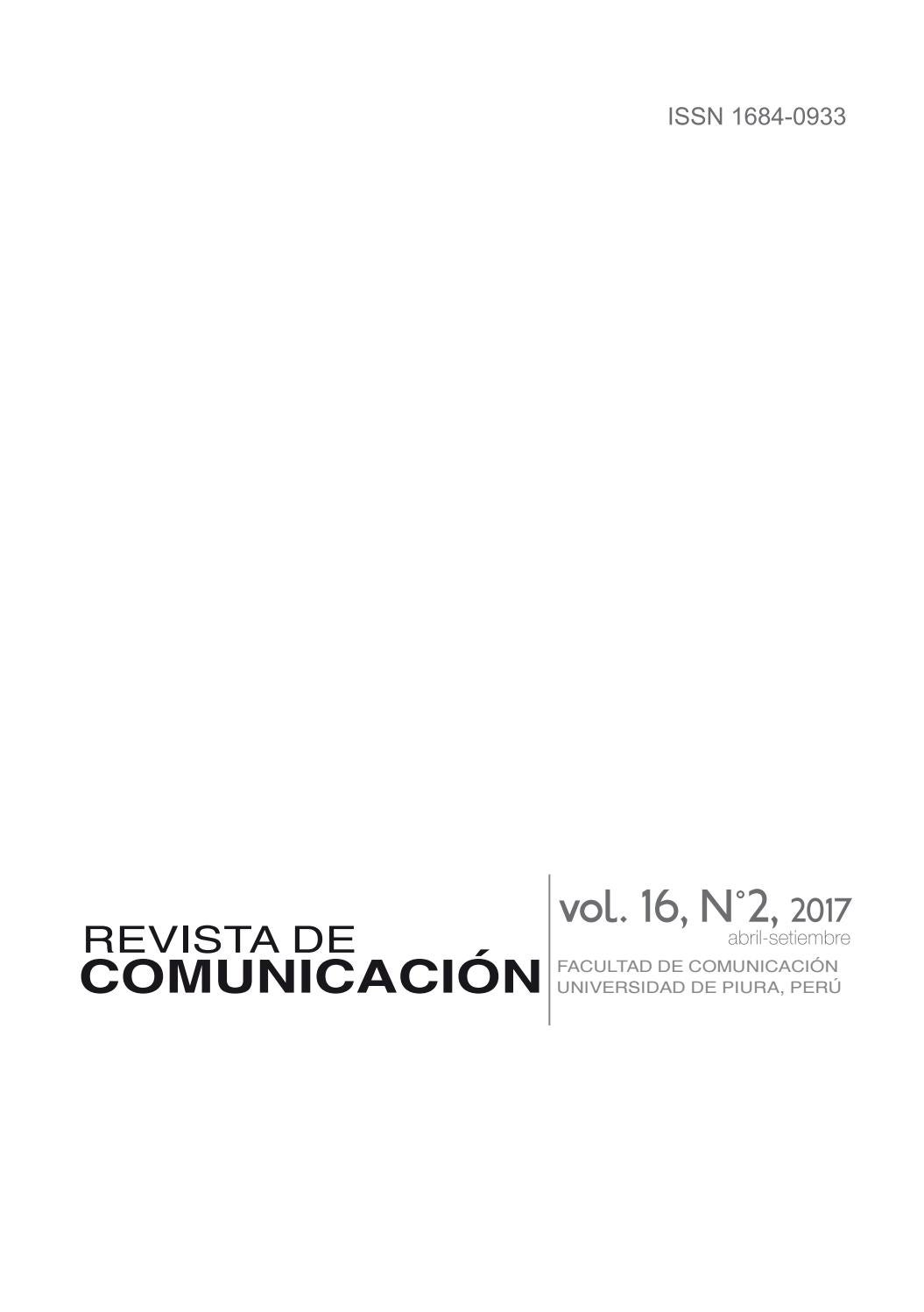 Revista de Comunicación vol. 16, N°2, 2017 by Revista de ...