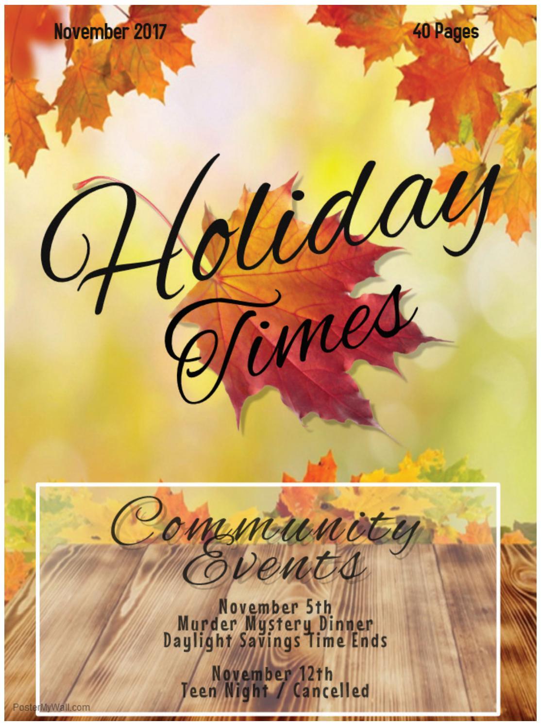 Holiday Times - November 2017 by EDWARDSVILLE PUBLISHING - issuu