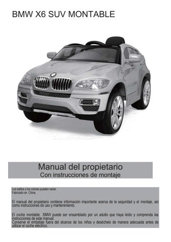 Manual De Usuario Bmx6 Suv By Importadora Sudamericana Issuu