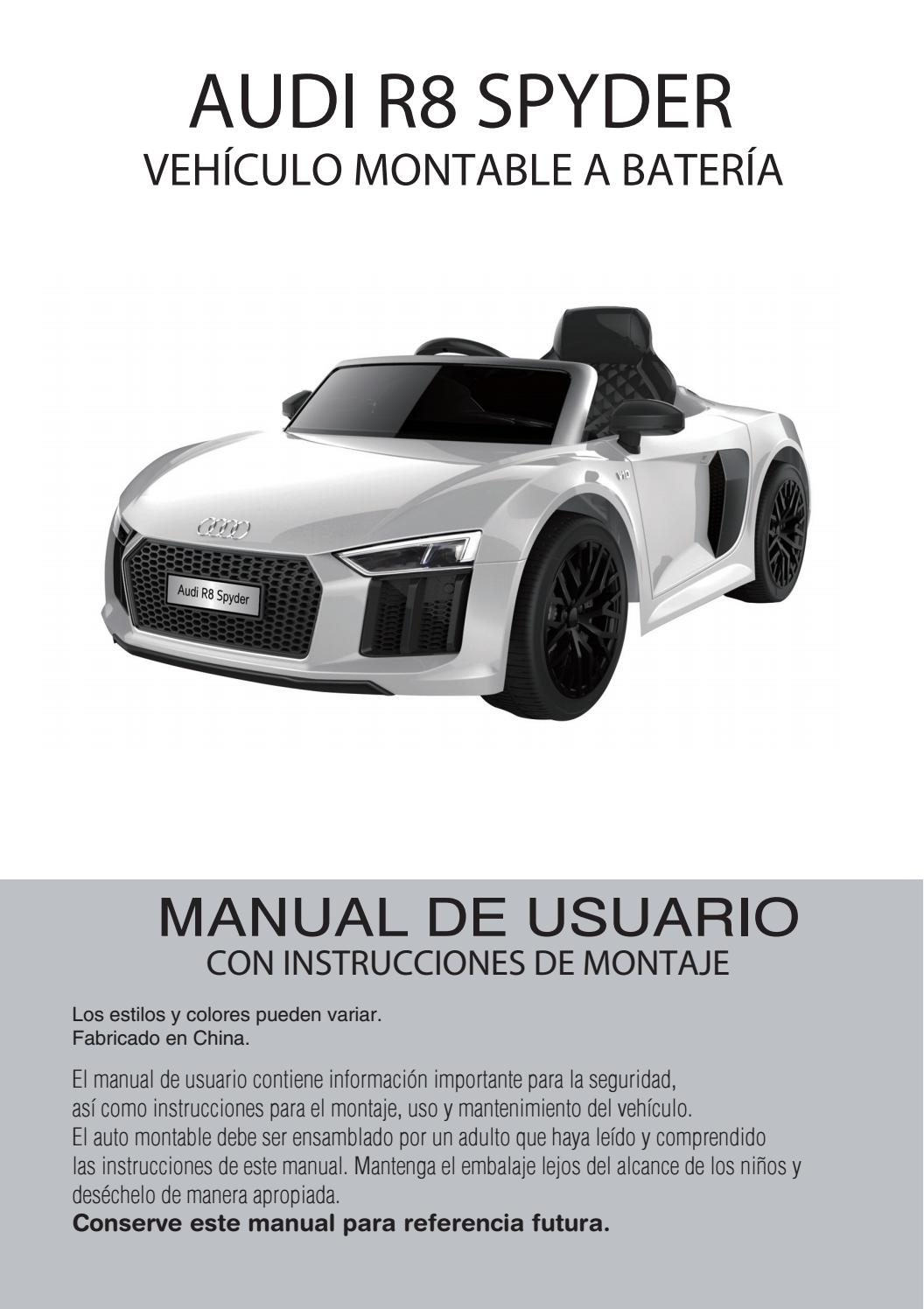 De Sudamericana Manual Issuu Spyder Audi Importadora R8 Usuario By Fc1u5JTlK3