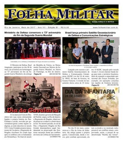 8cc98428a6 Folha Militar Edição 81 - Maio 2017 by Folha Militar - issuu