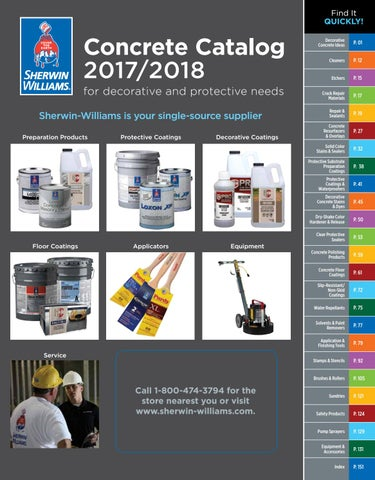 Sherwin-Williams Concrete Catalog 2017/2018 by Sherwin-Williams - issuu