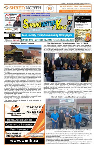 c3b7c4d676c9 October 19 2017 edition 506 for the web by Springwater News - issuu