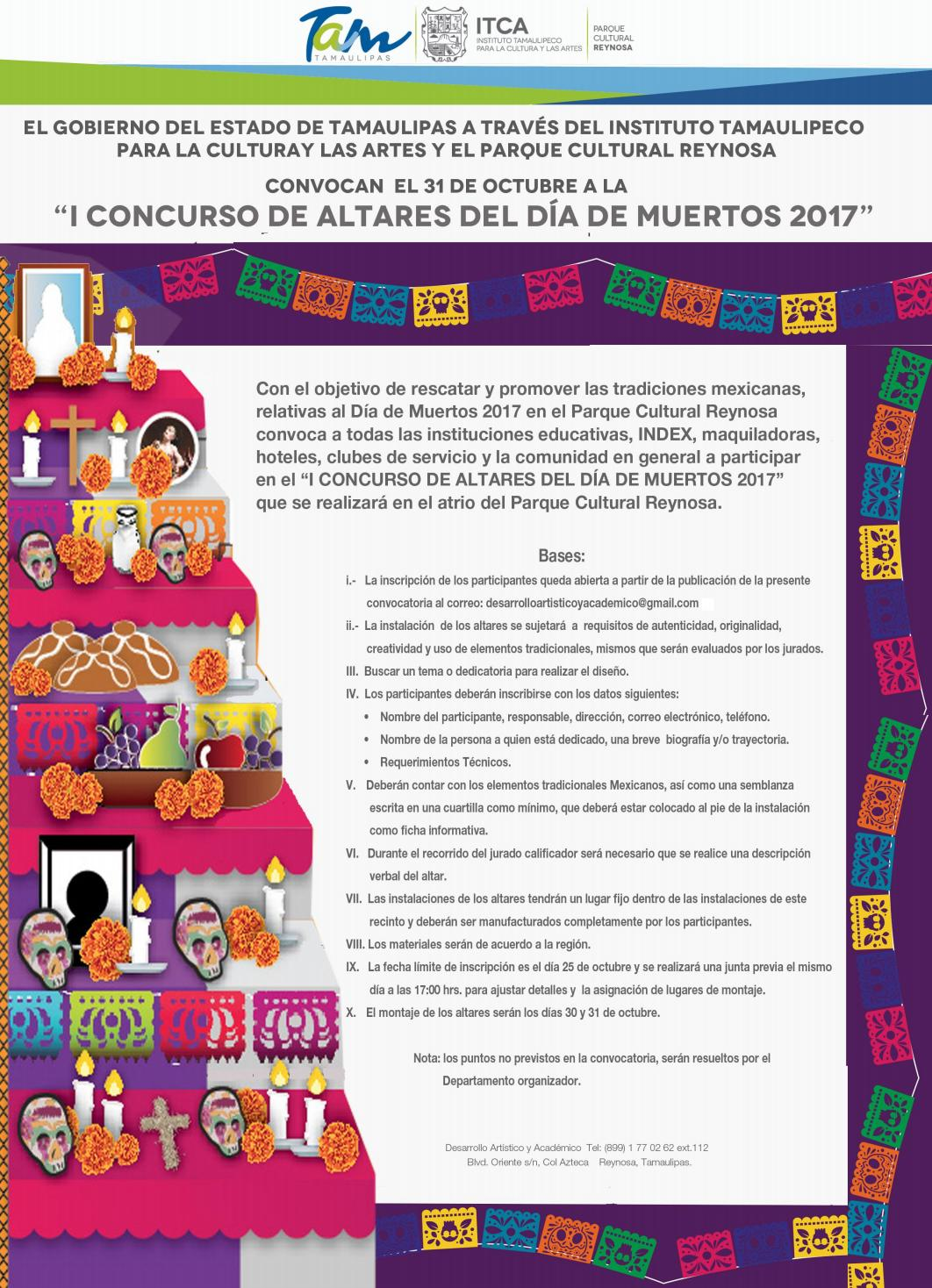 Convocatoria Para El Concurso De Altares 2017 By Instituto