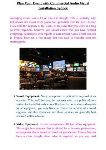 live sound business plan pdf